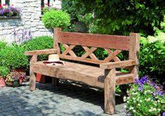 Gebrauchte Gartenbank Massiv Holz Rustikale