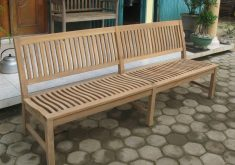 Holz Gartenbank Ohne Armlehne