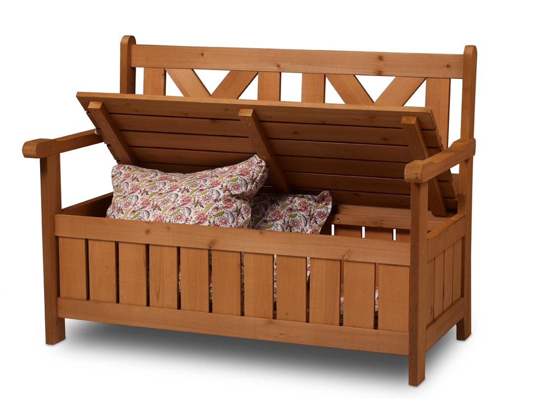Holz Kissenbox Gartenbank