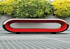 Moderne Gartenbank Design Serralunga Loop Schwarz Glanzend