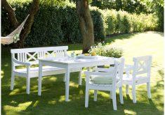 Weiße Gartenbank Mit Tisch