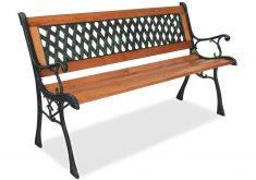 Wetterfeste Gartenbank Aus Metall Und Holz