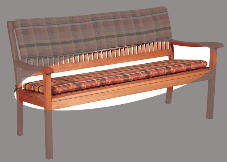 Auflagen Für Gartenbank 3 Sitzer Braun, Elegant Und Geeignet Für Braune Holzstühle