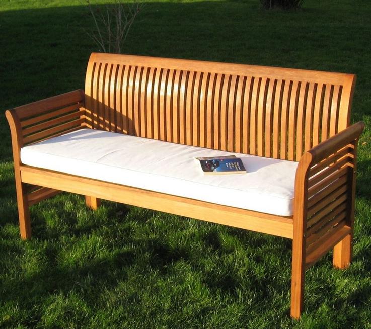 Auflagen Für Gartenbank Garten Plain White Weichem Material Geeignet Für 3 Sitzer