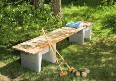 Bauanleitung Gartenbank Aus Baumstamm Ohne Lange Ruhe