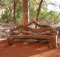 Gartenbank Aus Baumstamm Selber Bauen Ein Großes Stück Holz Und Einzigartige
