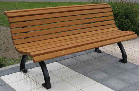 Gartenbank Baumstamm Holz Mit Den Füßen Aus Metall