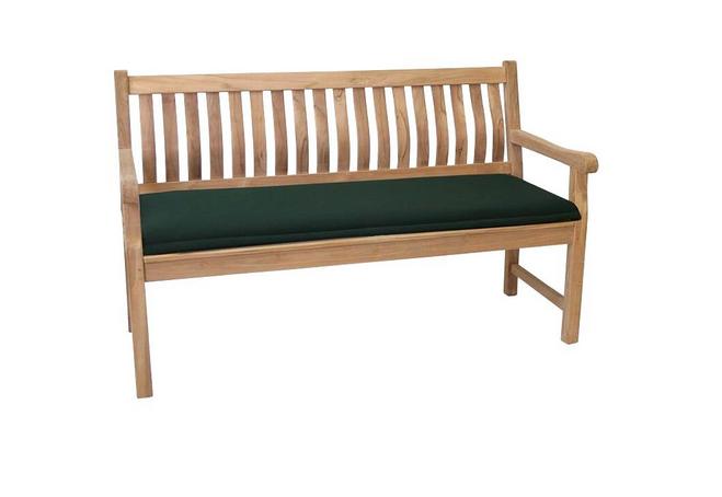 Günstige Gartenbank Auflagen Material Holzbänken Und Einem Schlichten Dunkelgrüne Kissen