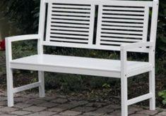 Gartenbank 2 Sitzer Weiss Akazie Hartholz Birkensee Holzbank Mit Armlehnen Gut Design