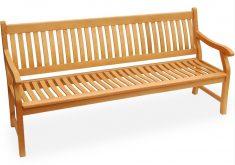 Gartenbank 4 Sitzer Holz England Länge Mit Armlehnen Und Rückenlehne Bräunlich Gelbe Farbe