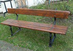 Gartenbank Antik Eisen Holz Topp Used Patina Industrie Loft