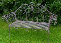 Gartenbank Antik Von Metall Zu Komplizierten Und Komplexen Krümmungen Bilden