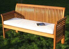 Gartenbank Auflage 4 Sitzer Mit Dem Sitzkissen Weiße Farbe, Die Dem Komfort Verleiht, Wenn Sie Verwendet