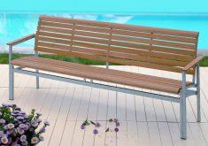 Gartenbank Aus Edelstahl Länge Kann Bis Zu 4 Personen Mit Einem Komfortablen Rückenlehne Sein