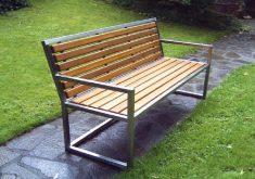 Gartenbank Edelstahl Holz 3 Sitzer Bequem Und Breit Größe