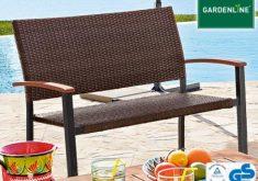 Gartenbank Geflecht Gardenline Schöne Braune Farbe Und Interessante