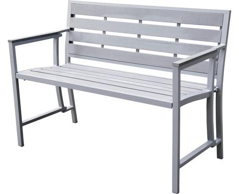 Gartenbank Geflecht Grau Silbermetall, Das Einzigartig Und Attraktiv Ist