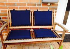Gartenbank Kissen Auflagen Blaue Farbe Ist Einzigartig Und Elegant