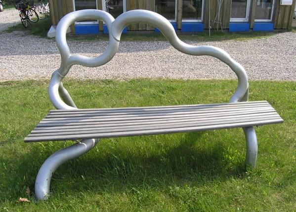 Gartenbank Metall Edelstahl Einzigartige Form Und Antiquitäten Machen Den Garten Schauen Beeindruckt Künstlerischen Und Dynamisch