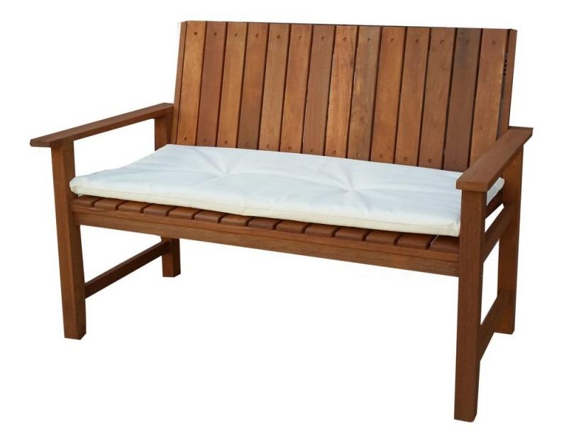Gartenbank Mit Kissen Kissen Weiße Farbe Ist Einzigartig Und Attraktiv