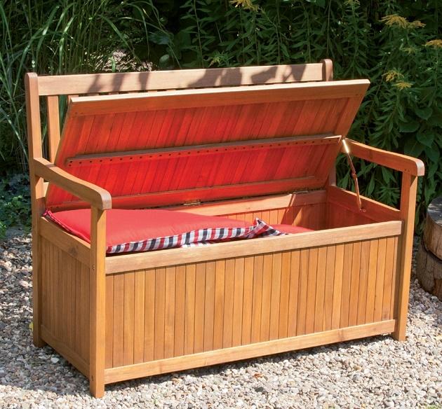 Gartenbank Mit Kissenbox Weiss Holz Einzigartige Und Leistungsstarke Bequem