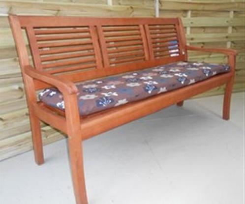 Gartenbank Paolo 3 Sitzer Holzbank Eukabank Auflage Blume