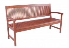 Gartenbank Paolo 3 Sitzer Aus Eukalyptus Holz Gelt