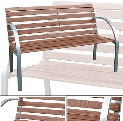 Gartenbank Paolo Holz Metall Alu 2 Sitzer Parkbank Bank Sitzbank