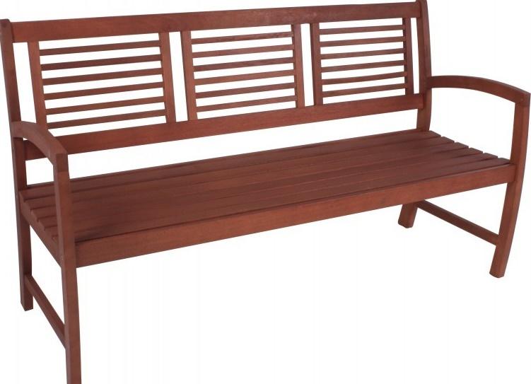 Gartenbank Paolo Eukalyptus Holz Gelt 3 Sitzer Gut Design