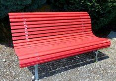Gartenbank Rot Attraktive Und Einzigartige Design, Die Bequem Ist, Um Mit Ihren Lieben Entspannen