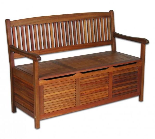 Gartenbank Und Kissenbox Holz, Das Einzigartig Und Interessant Aussieht