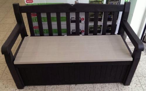 Keter Gartenbank Mit Kissenbox Beige 2 Sitzer Moderne Designs in Schwarz