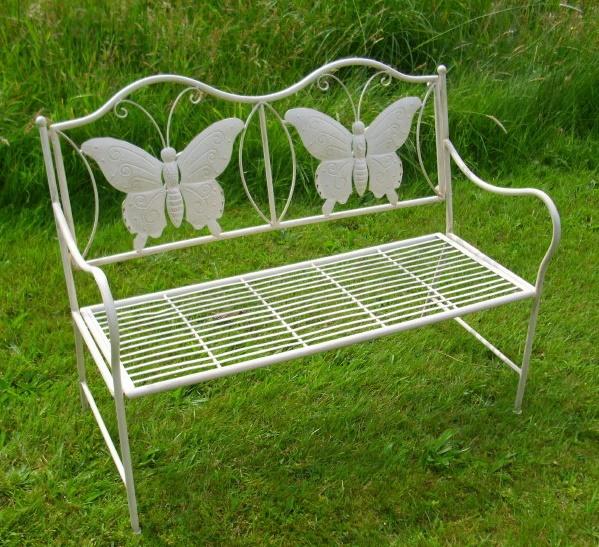 Kleine Gartenbank Aus Metall Mini Butterfly Künstlerische Und Attraktives Design