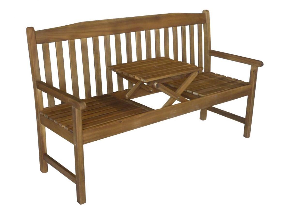 Kleine Gartenbank Mit Tisch Colombo Bench Komfortabel Für Zwei Personen Für Die Mahlzeiten Und Getränke In Den Garten