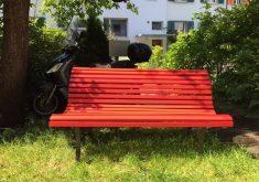 Rote Gartenbank Kaufen Sitzbank 2 Sitzer