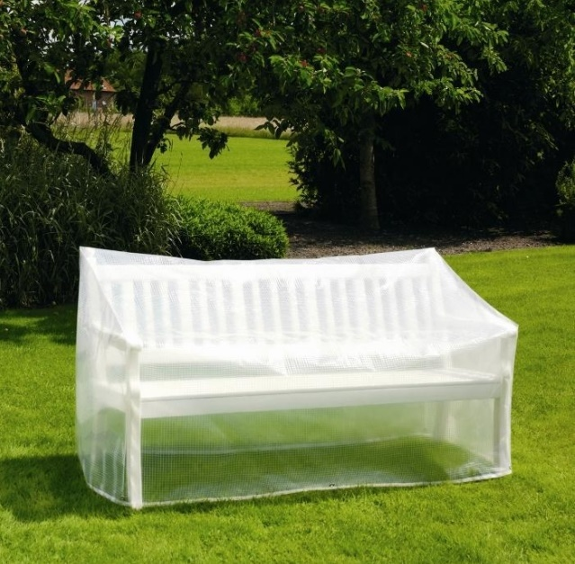 Schutzhülle Gartenbank 180 Cm Transparente Weiße Farbe Geeignet, Regen Zu Widerstehen