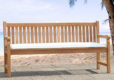 Sitzkissen Gartenbank Weiße Farbe Des Materials Waren Komfortabel Und Sah Sauber Schmücken Teak Gartenbank