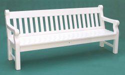 Gartenbank Weiß 4 Sitzer Windsor Holz Das Design Ist Stark Und Robust Beine Sind Durch Ihre Größe Nicht Unterstützt