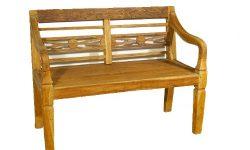 Holz Gartenbank Rustikal Divero 2 Sitzer Antikdesign