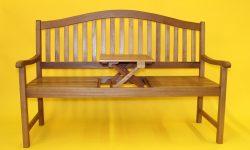 Klappbare Gartenbank Mit Tisch Eukalsypus Holz Natur