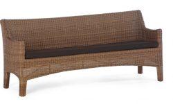 Rattan Gartenbank 4 Sitzer Entwerfen Bequem, Mit Rückenlehne Und Armauflagen Verwenden